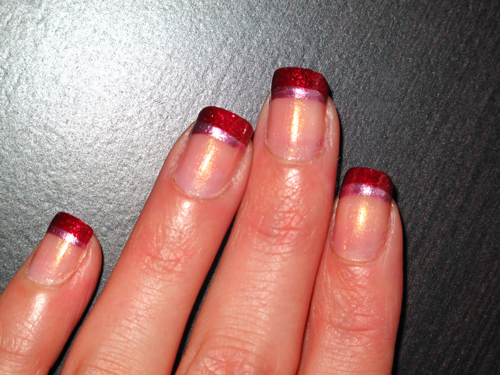 Nail Designs: Valentine\'s Day French Tips