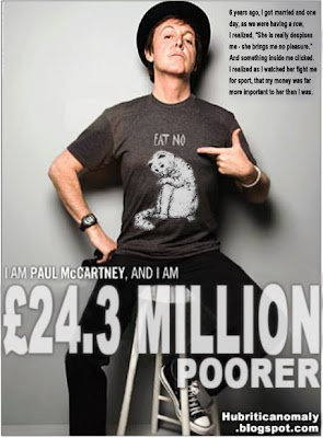 Paul McCartney, I am a` bit of a twat and also now divorced from Heather Mills