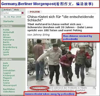 Berlin Newspaper lies about Tibet Photo