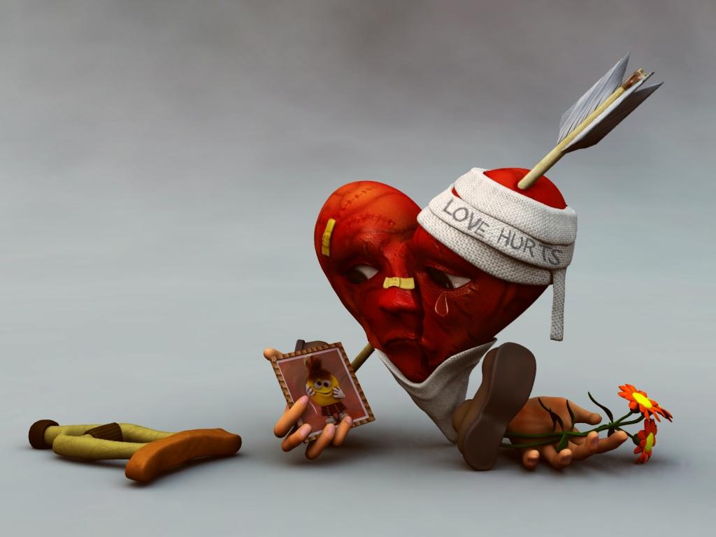 Wallpaper cartoon Love Hurts : Bir kadinin gozunden hayatin renkleri!: Kirik kalbin hikayesi...