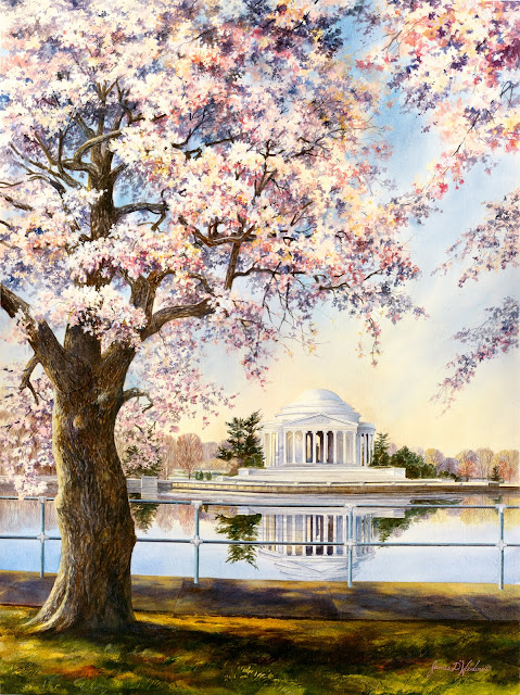 Jefferson Memorial in the Spring