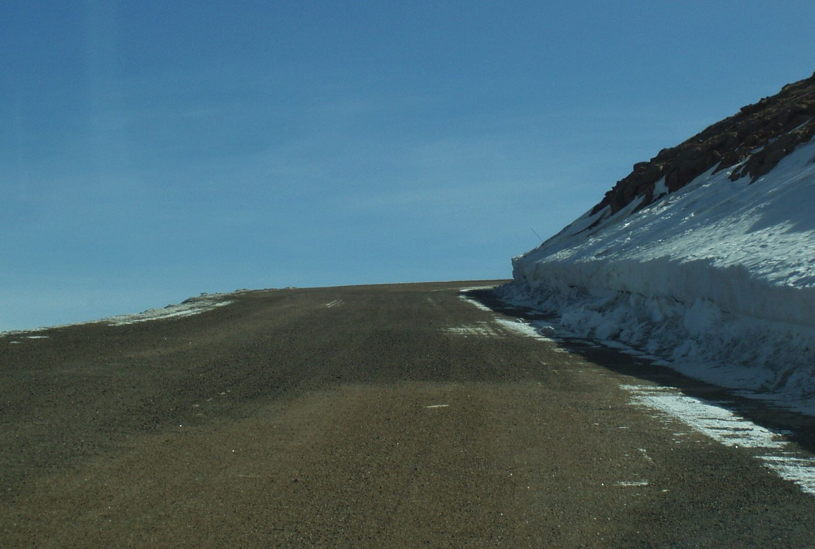 road up to pikes peak
