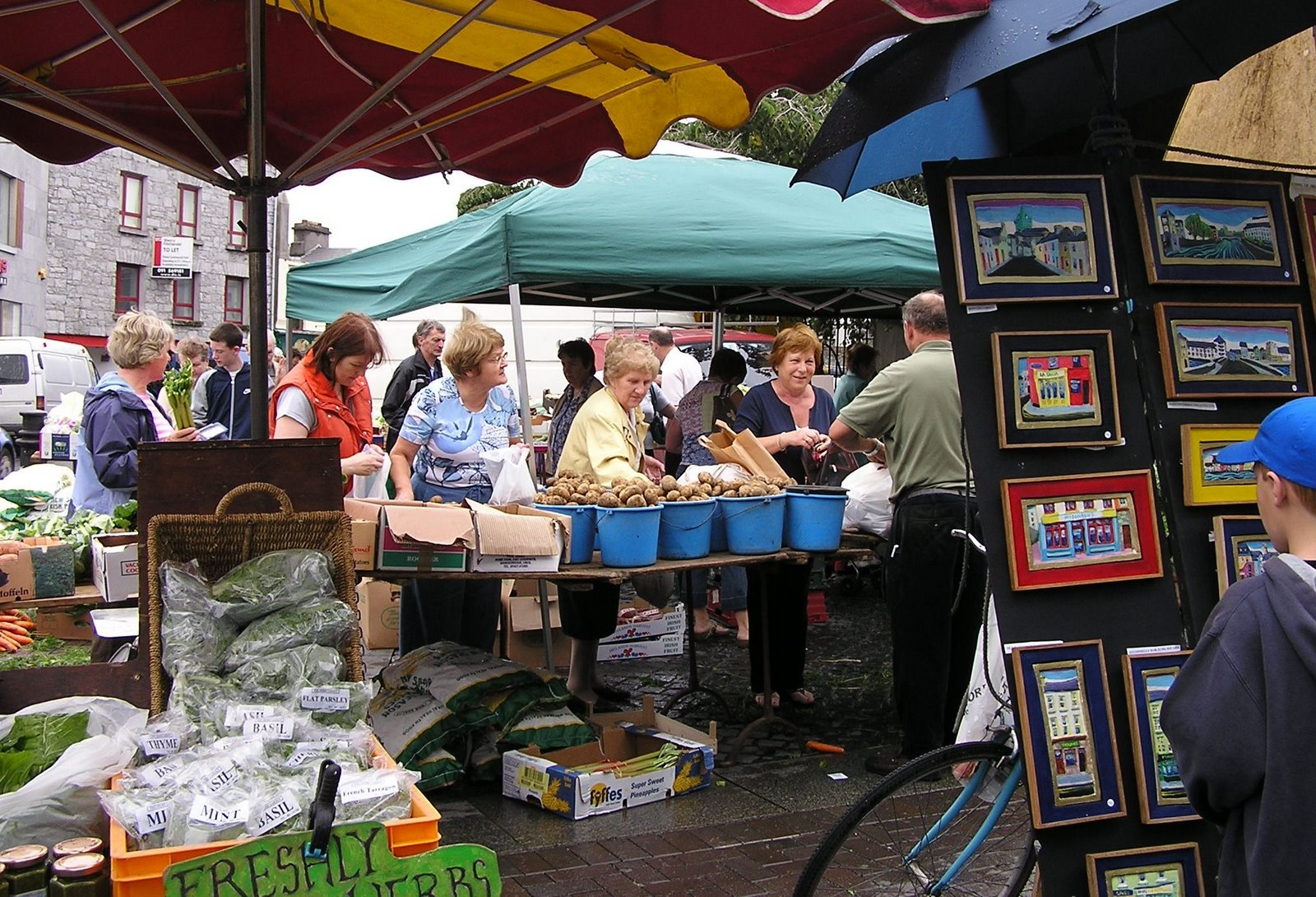 fresh produce, pictures at Galway Market