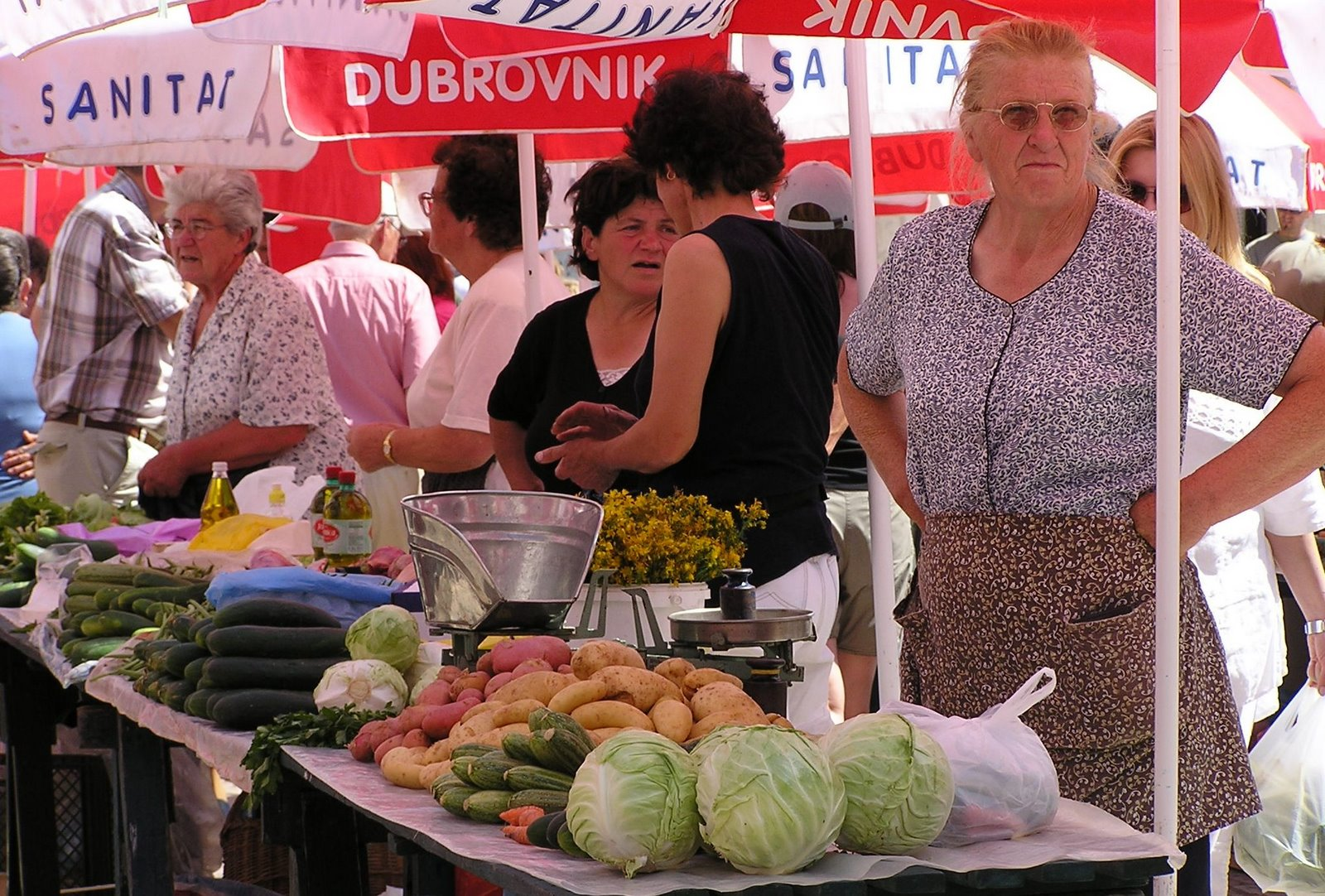 market, dubrovnik, croatia