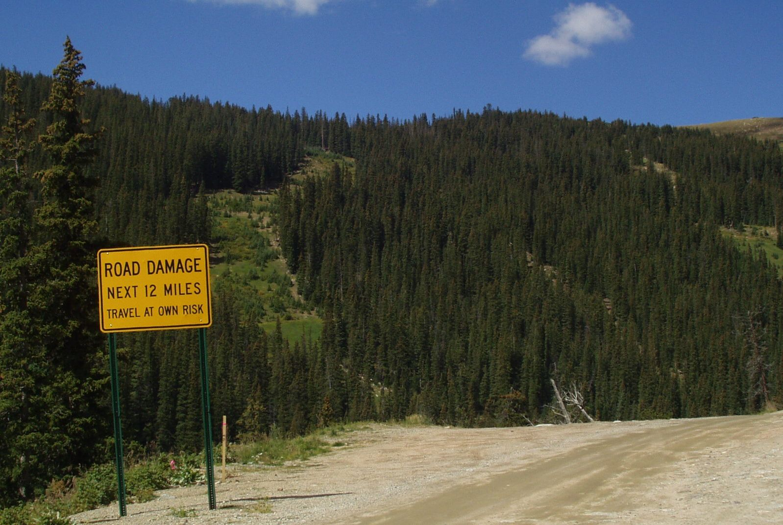 road sign, guanella pass scenic byway, colorado