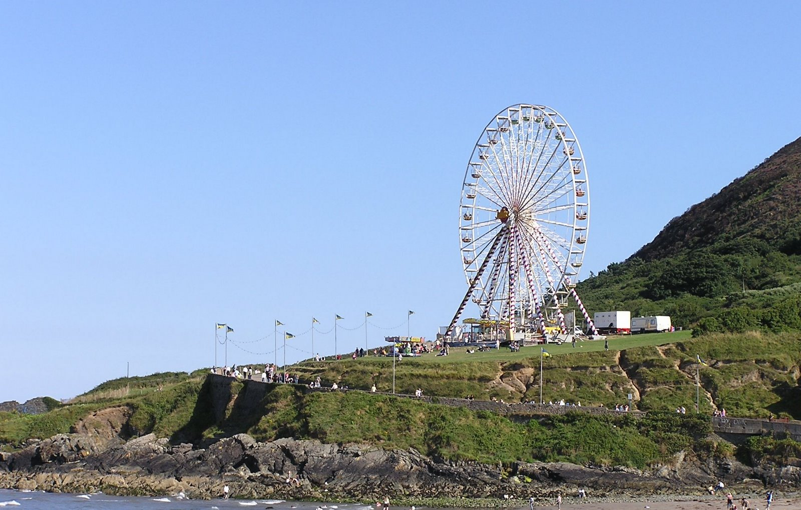 ferris wheel at Bray, Ireland