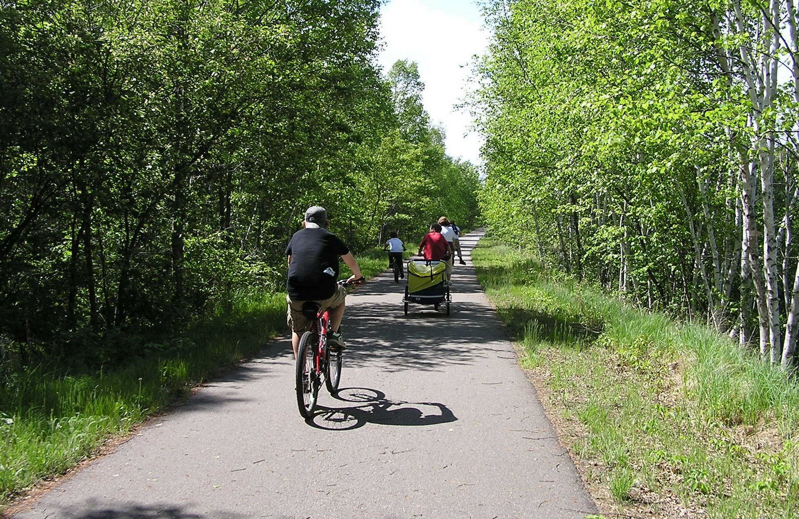 biking on the paul bunyan trail