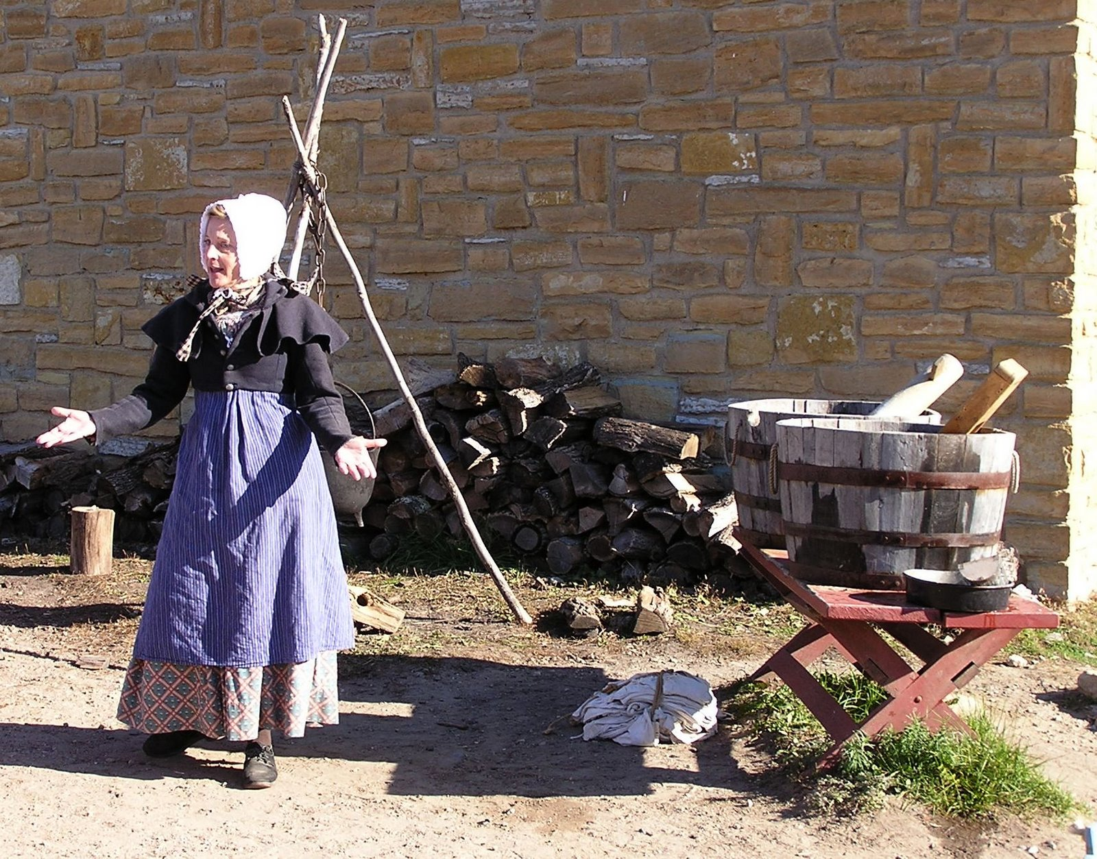 wash woman at fort snelling
