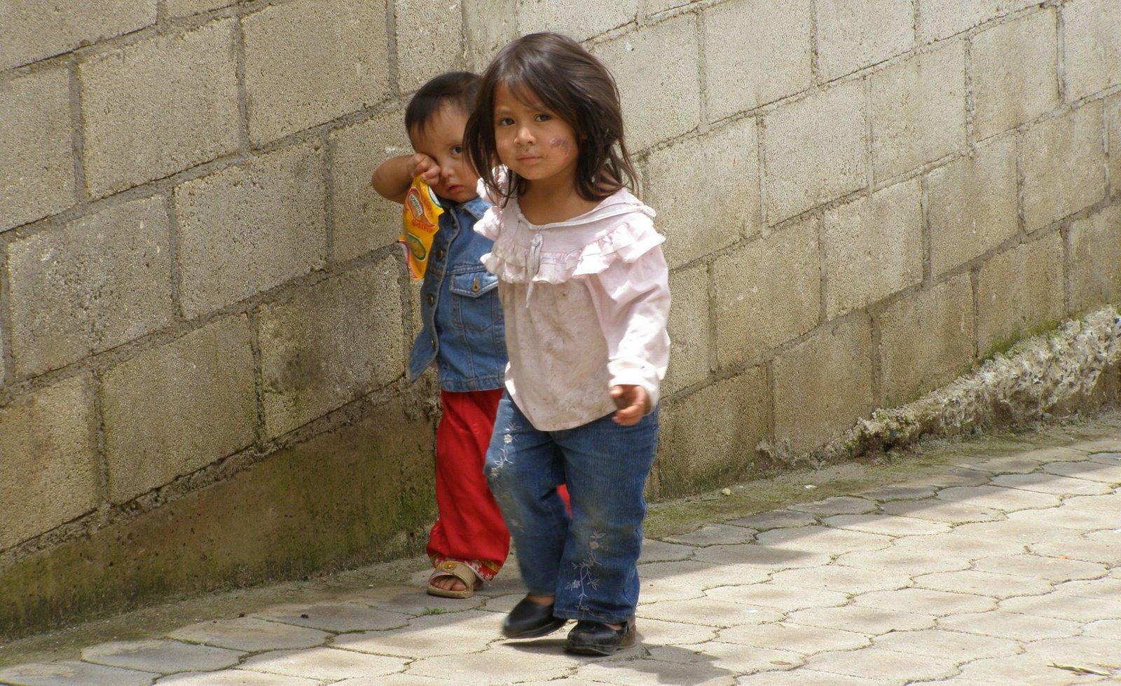 children in santa maria de jesus, guatemala