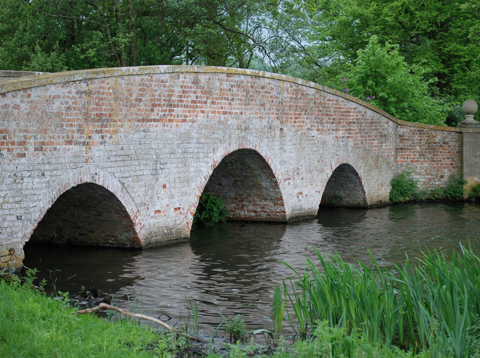 bridge over tundry pond, dogmersfield park, hampshire