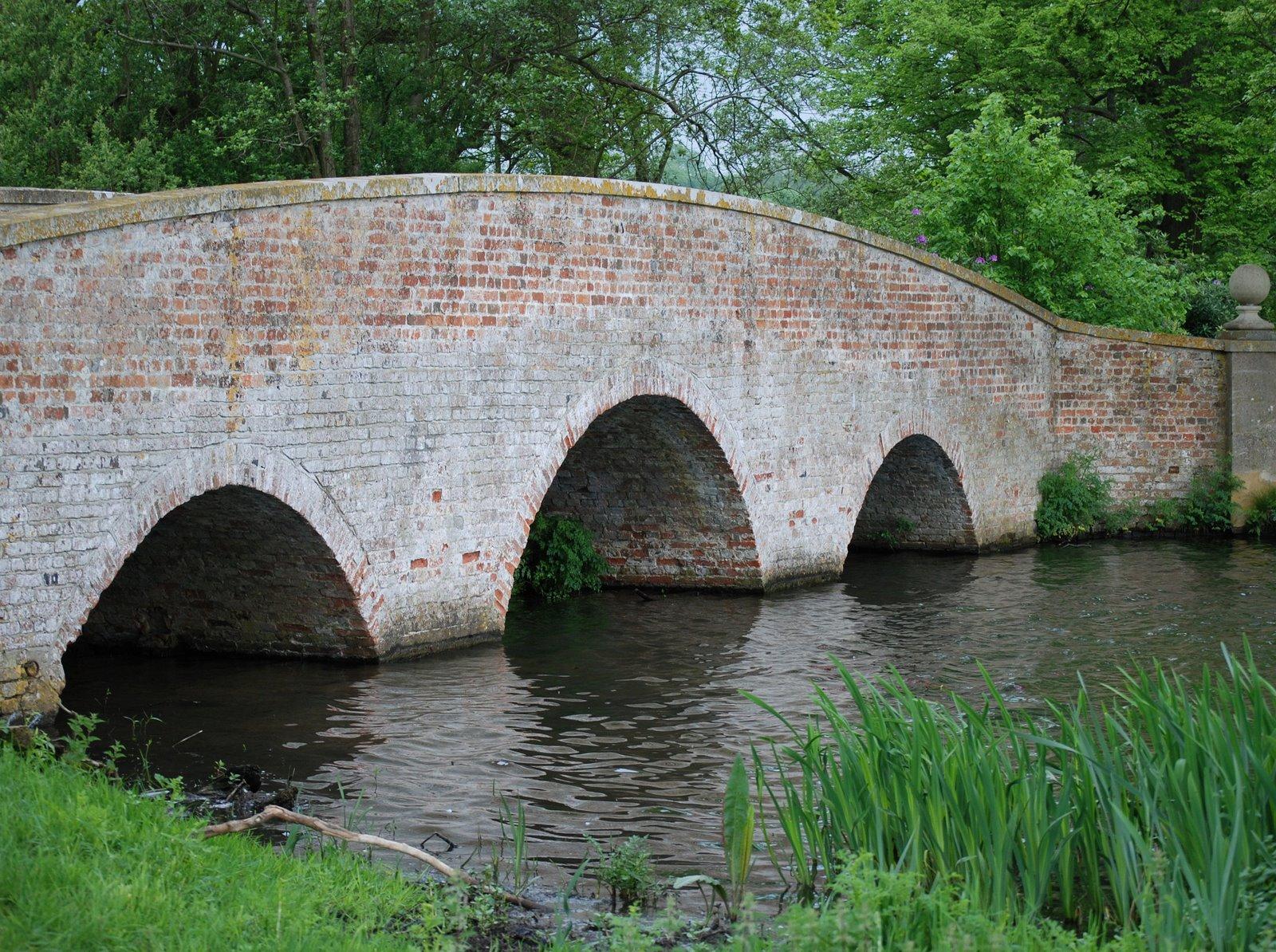 bridge over tundry pond, dogmersfield park, hampshire