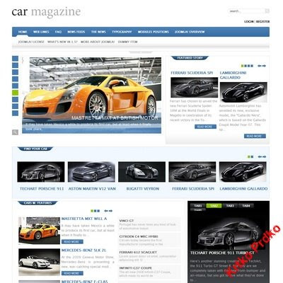 GavickPro - Car Magazine Joomla Templates Free Download