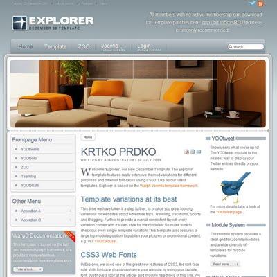 Yootheme explorer 1 5 2 joomla downloads for Yootheme joomla templates free download