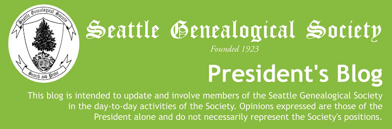 Seattle Genealogical Society Library Blog