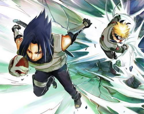 sasuke wallpapers. Naruto and Sasuke Action