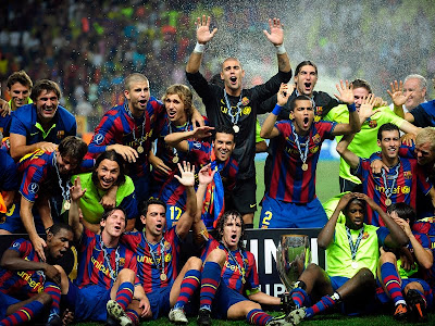 Barcelona Football Team Celebration
