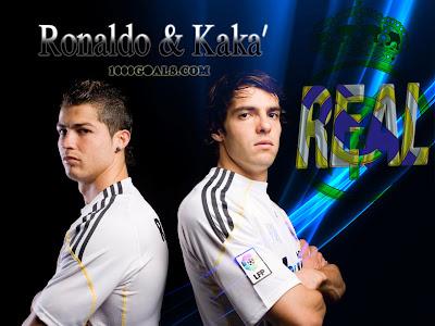 Real Madrid&Cristiano ROnaldo&Kaka Football Player