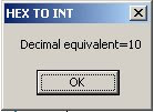 Hexadecimal To Integer or Decimal in .NET