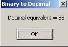 Binary to decimal in .NET