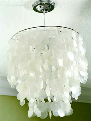 Valerie paperie diy faux capiz shell chandelier ive always liked the look of capiz shell chandeliers i wanted one for my officecraft room aloadofball Images