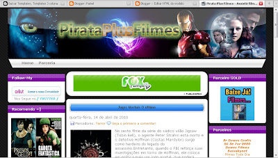 Baixe o Template do Pirata Plus Filmes gratis no Easy-share ou Megaupload