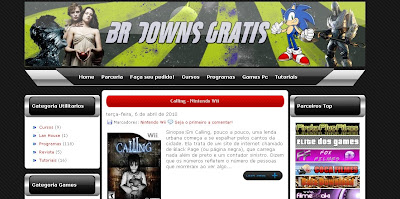 Template completo do Br Downgratis - blogger