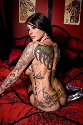 design of sexy woman full body french tattoo styles