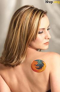 firefox tattoo back girl