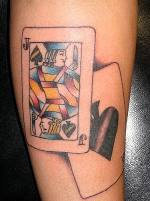 Apparently Blackjack Card Tattoos was not just as a part of gambling games,