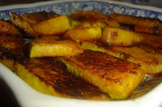Grilled red pumpkin slices, Kaddu bhaja,  Bengali recipe