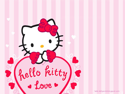 Hello Kitty-Red Wallpeper