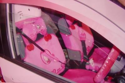 Hello Kitty Car,Kiitty car,Princess kitty car,kitty pink car