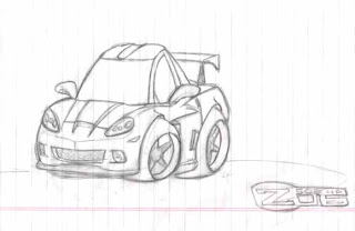 Chevrolet Corvette C5 Z06 vector drawing  TheBlueprintscom
