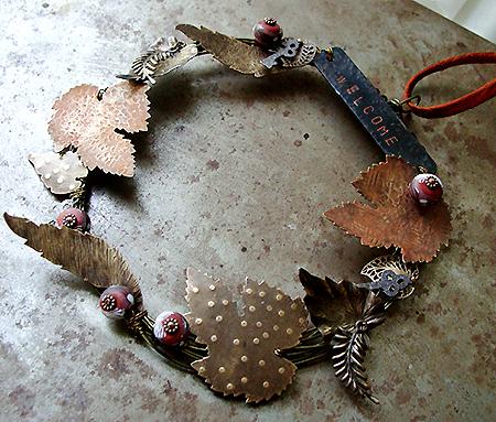 Art Bead Scene Blog Autumn Wreath