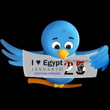 El levantamiento egipcio en Twitter