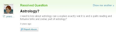 The Astrology Of Dumb Yahoo Answers