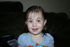 Kennadye's first black eye!!