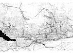 Carte des ruisseaux au XVIIe siècle