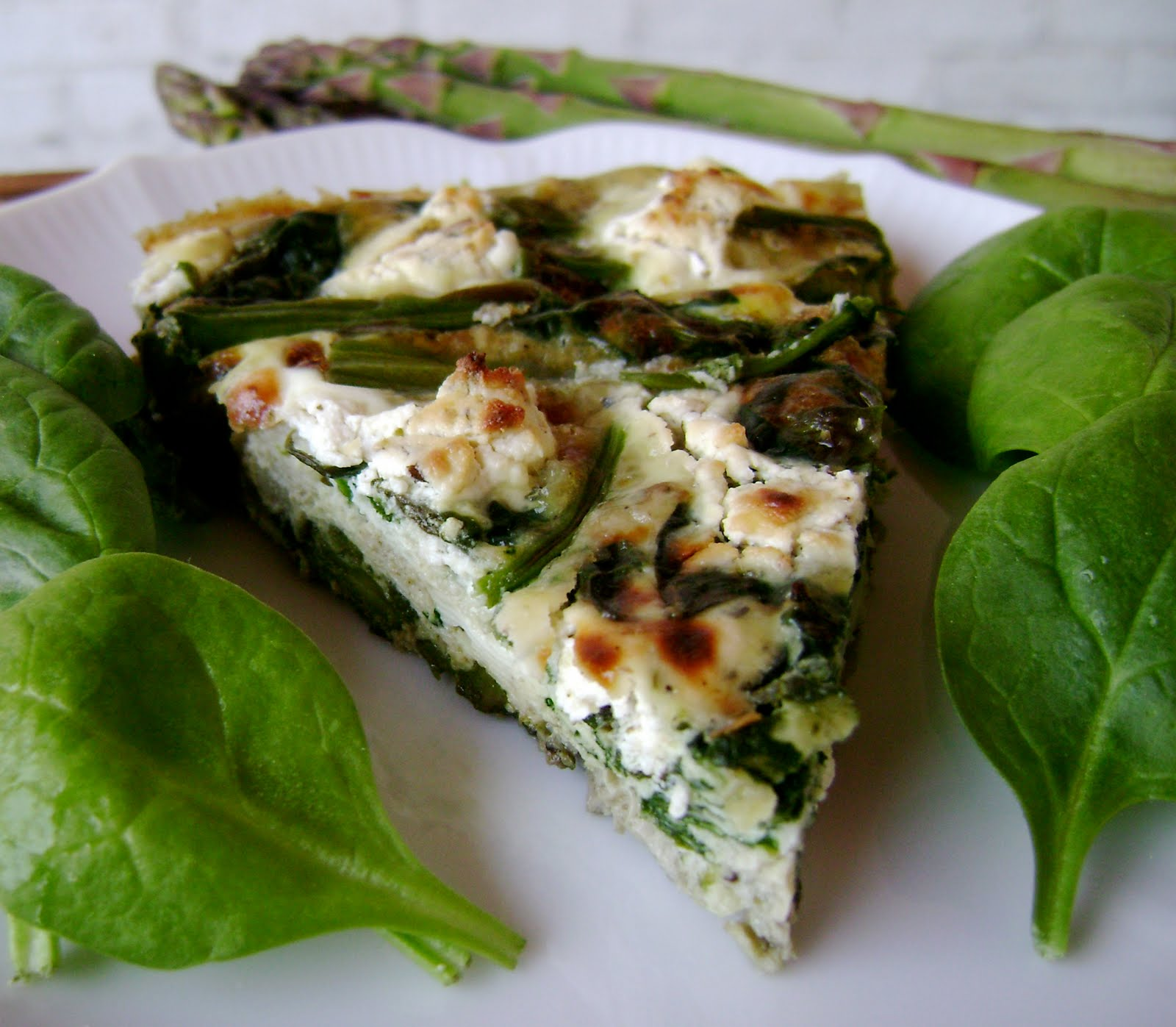 today i ate...: asparagus, spinach, and feta cheese frittata