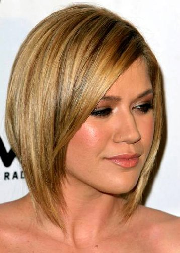 Hairstyles For Round Faces This Asian shoulder length hairstyle suits square