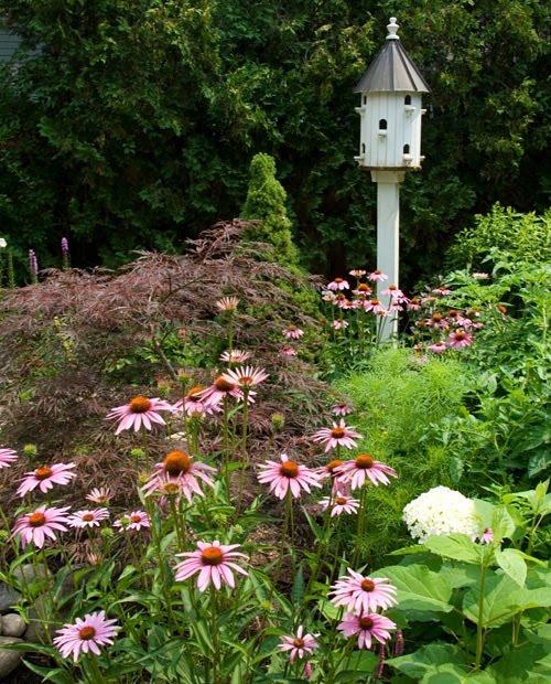Decorative Bird House Decorative Bird House In Garden