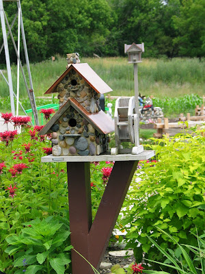 Decorative Bird House with Water Mill