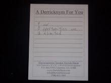 Derrricknym Postcard