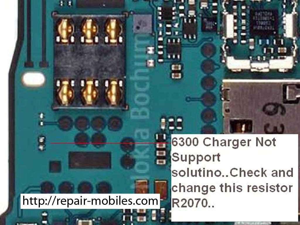 6300 , Not Charging Problem