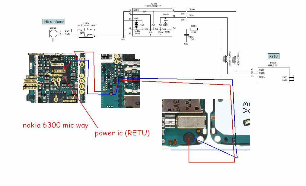 6300 , 3110c Mic Microphone Ways Problem