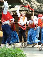 Moravian folk dancers at Roznov pod radhostem