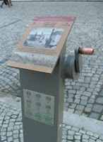Part of Sternberk's unique system of interpretive signage