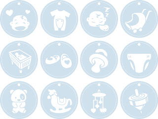 Free SVG Baby Tags