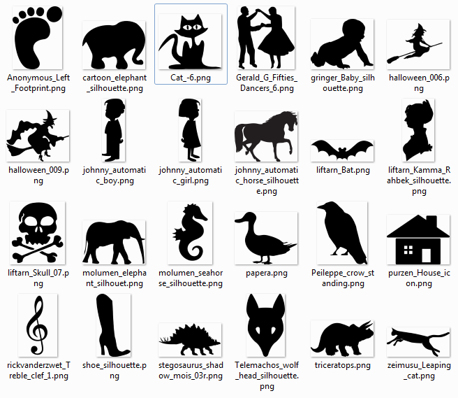 Shery K Designs: More than 600 free silhouette SVG Cliparts