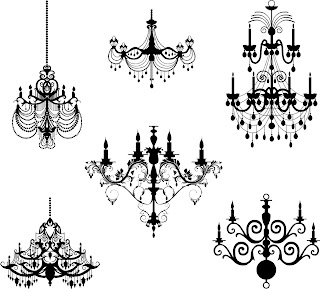 6 Free Chandeliers | Digi stamps